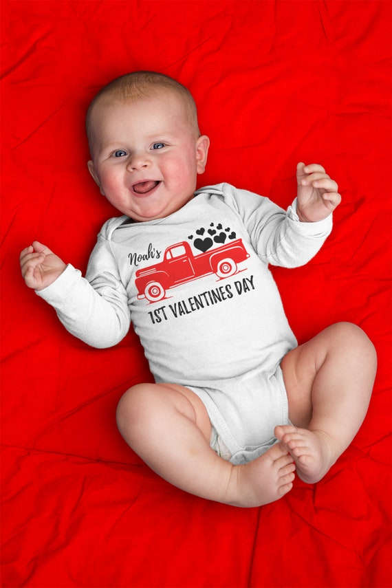 Personalized Baby Boy Valentines Day Shirt My First Etsy