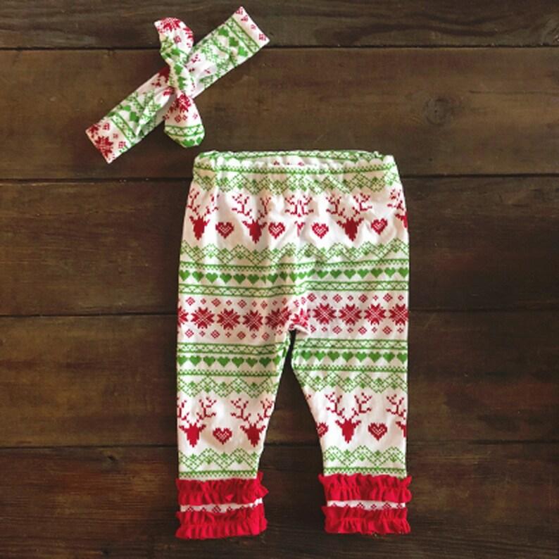 73bb9f5efb72 Fair Isle Newborn Christmas Outfit Baby Girl Christmas | Etsy