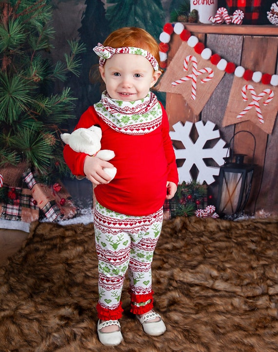 image 0 - Baby Girl Christmas Outfit Toddler Girl Christmas Outfit Etsy