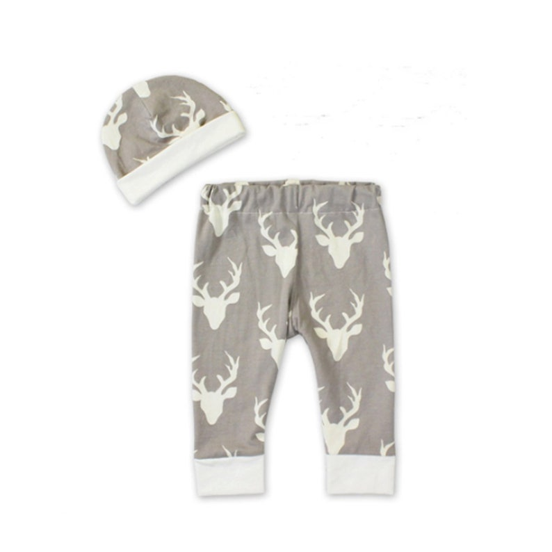 2ad5931d66450 Personalized Baby Boy Coming Home Outfit - Custom Newborn Boy Take Home  Outfit - Grey Deer Preemie Boy Clothes