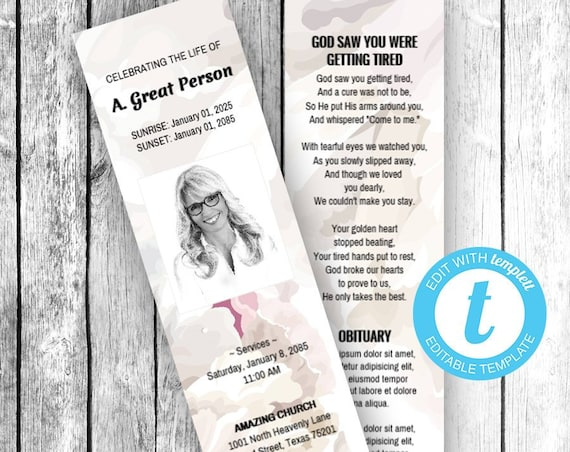 BOOKMARKS 4 UP (2x7) (Soft Floral Fragrance) EDIT Directly in your Browser, No Software Needed, Quick & Easy to Edit