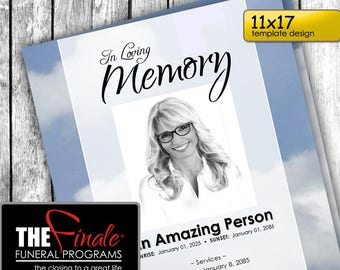 free funeral program template etsy