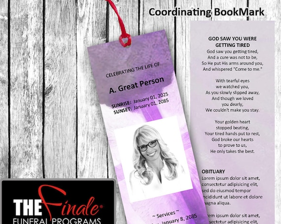 Angelic Wings SHADES OF PURPLE BookMark ... (matching printable bookmark template) Microsoft Word Document