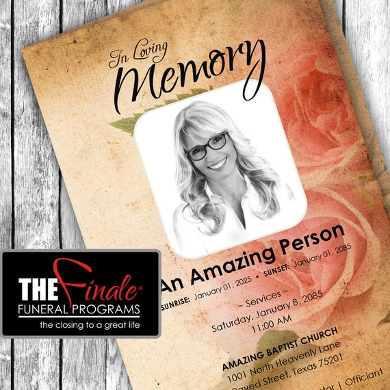 THE VINTAGE ROSE ... (printable funeral program template)
