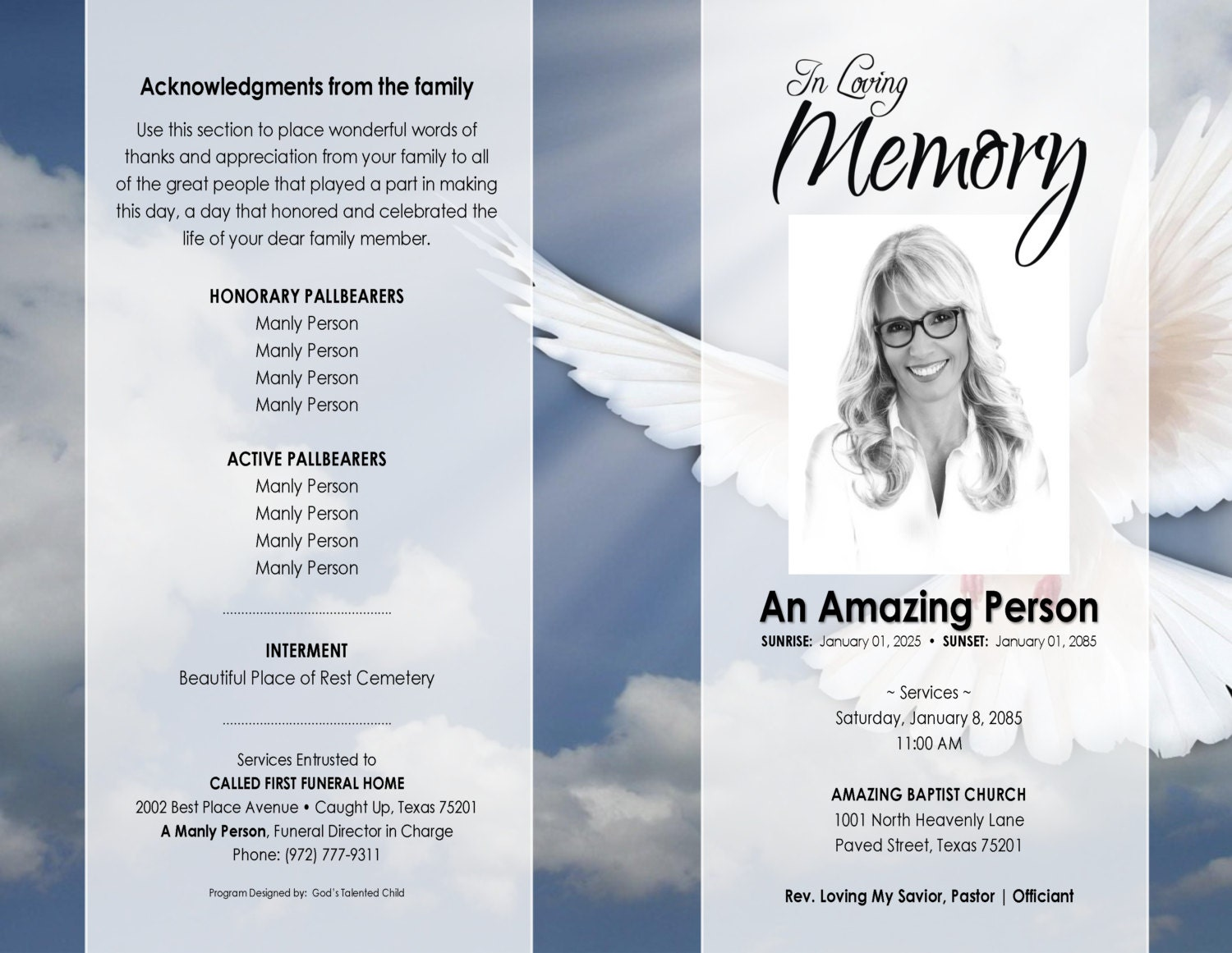 It's just a picture of Remarkable Free Printable Funeral Programs