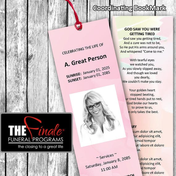 PINK ROSE BookMark ... (matching printable bookmark template) Microsoft Word Template