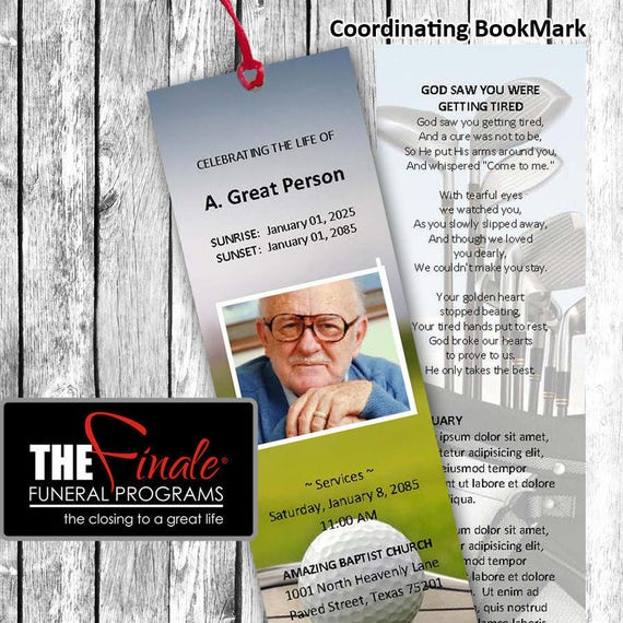THE ULTIMATE GOLFER BookMark ... (matching printable bookmark template) Microsoft Word Document