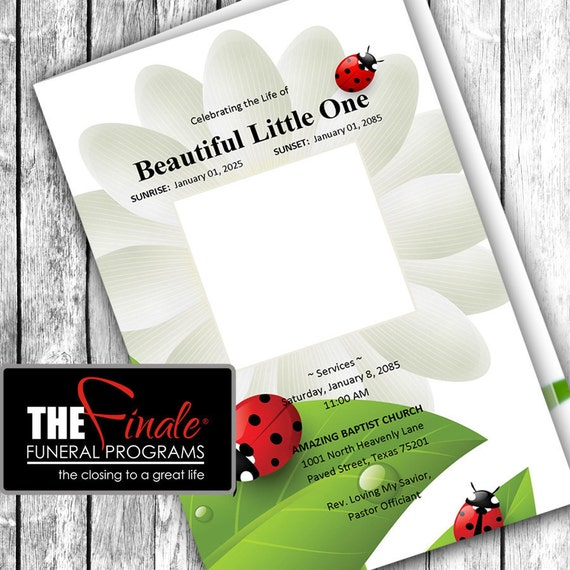 LITTLE LADYBUG ... (printable funeral program template) Microsoft Word Template