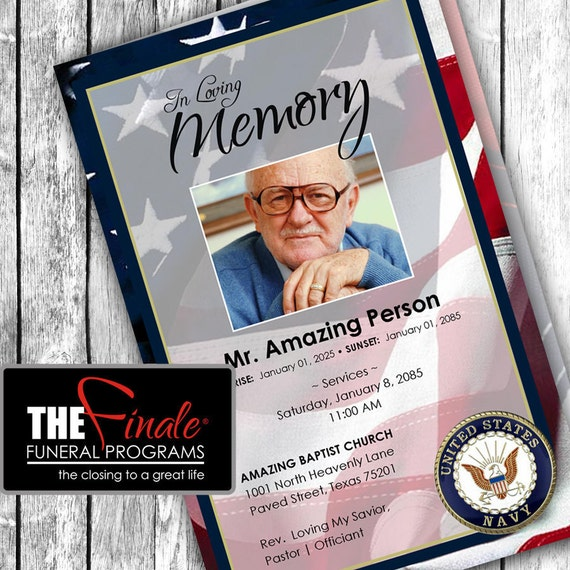 NAVY HONORS ... (printable funeral program template) Microsoft Word Document