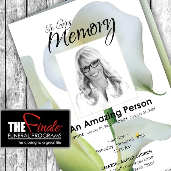 The LIGHT of LILY ... (printable funeral program template) Microsoft Word Document