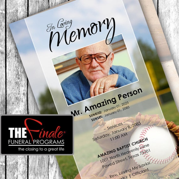 LET'S PLAY BALL ... (printable funeral program template) Microsoft Word Document