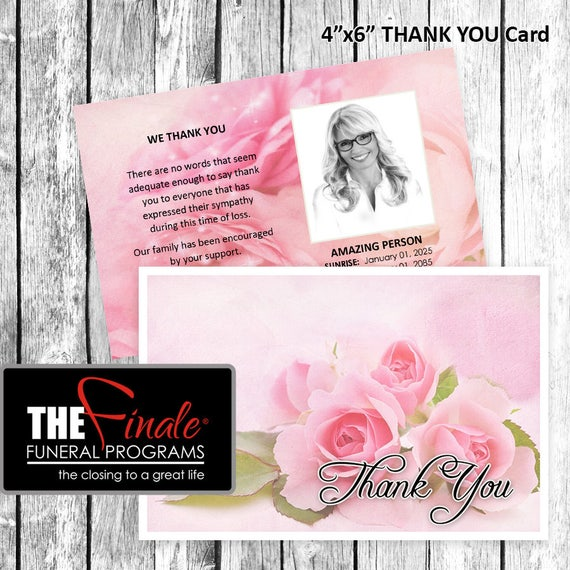 4x6 Thank You Card THE BLUSHING ROSES ... Microsoft Word Document