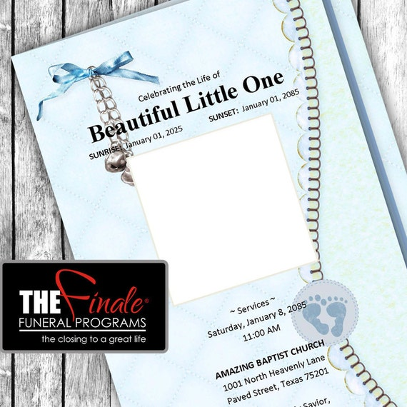 HIS TINY FEET ... (printable funeral program template) Microsoft Word Document