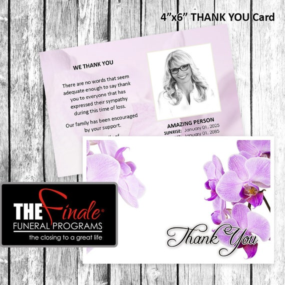4x6 Thank You Card PURPLE ORCHIDS ... Microsoft Word Document