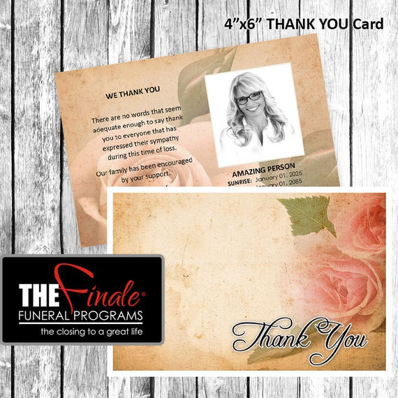 4x6 Thank You Card THE VINTAGE ROSE ... Microsoft Word Document