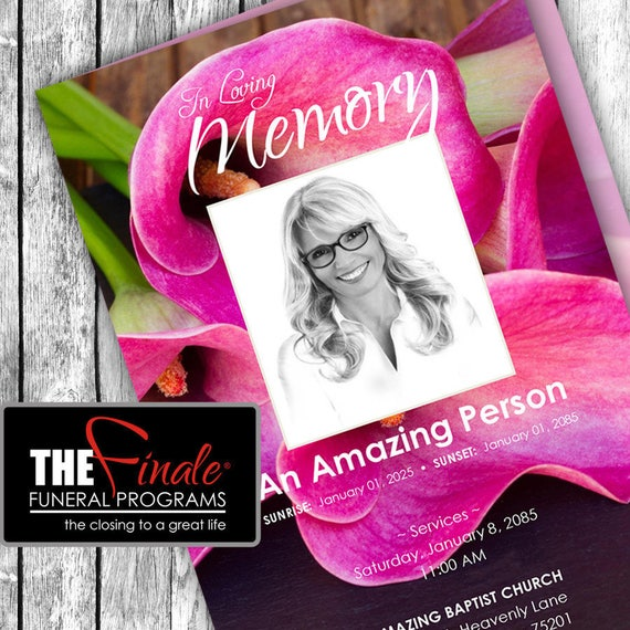 The Vibrant Lily ... (printable funeral program template) Microsoft Word Template