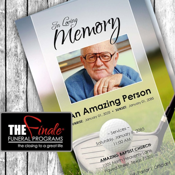 THE ULTIMATE GOLFER ... (printable funeral program template) Microsoft Word Document