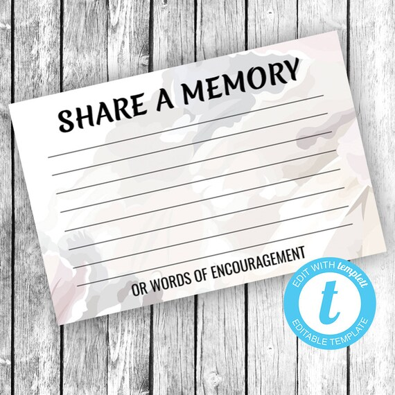 Please Share a Memory (4x6) ... (soft floral fragrance) EDIT Directly in your Browser, No Software Needed, Quick and Easy to Edit