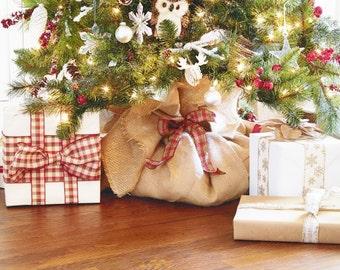 christmas tree wrap burlap christmas tree wrap burlap tree wrap burlap tree skirt rustic christmas decor 66 x 66 - Christmas Tree Skirts Etsy