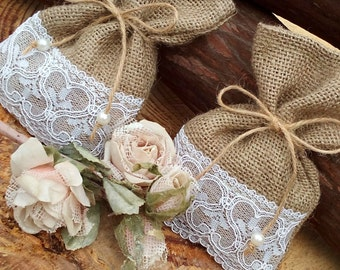 Burlap Favor Bag - Burlap Wedding Favour Bag- Rustic Favor Bag - Rustic Wedding Favor - Favor Bag - Gift Bag - Rustic Wedding - Set of 25