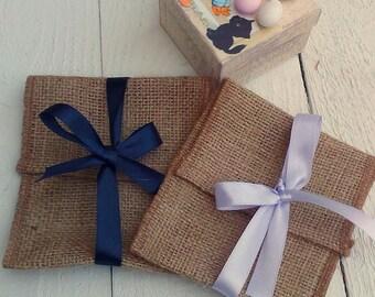 Favor Bags - Burlap Wedding Favour Bag- Envelope Rustic Favor Bag - Rustic Favour - Favor Bag - Gift Bag - Rustic Wedding - Set of 25