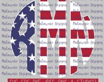 Americana Monogram - American Flag Monogram COMMERCIAL USE FILES