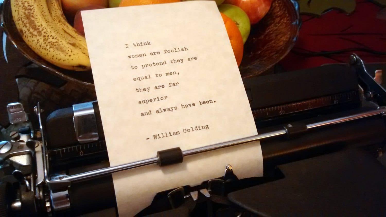On women golding william I think