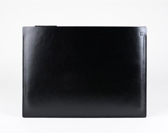 "NEW iPad Pro 10.5"" case leather felt 9.7"" or 12.9"" case smart keyboard or cover apple pencil holder slim iPad case black leather wool felt"