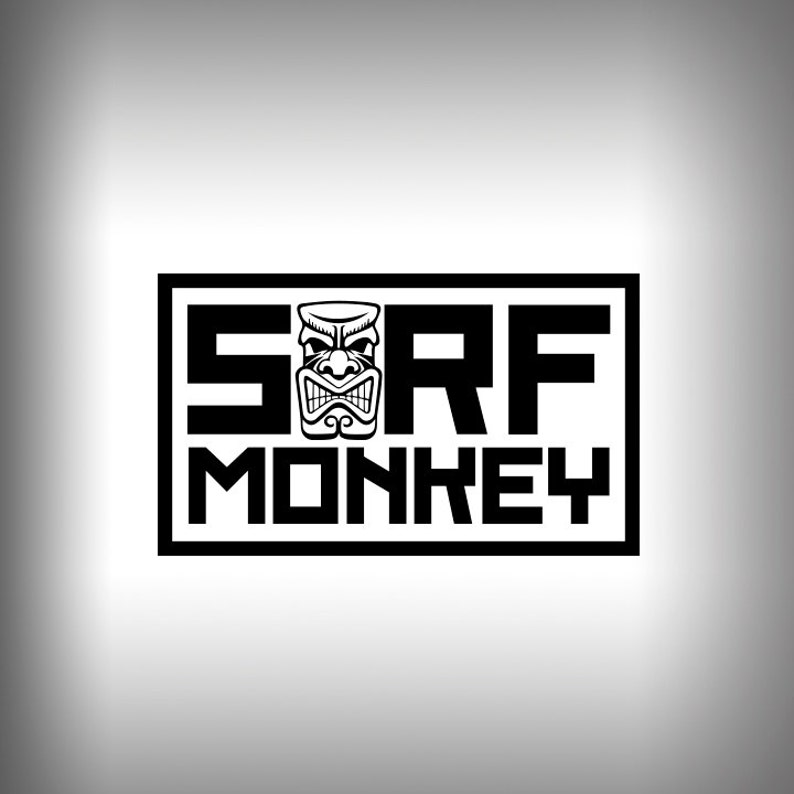 Tiki SurfMonkey Decal Outdoor Vinyl Car decal Glass Decal Window Decal  laptop personalized decals custom stickers boat decal
