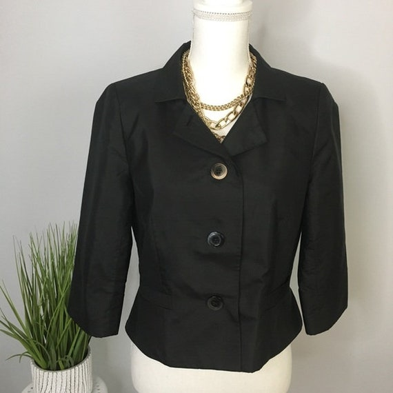 Liz Claiborne Unconstructed Wool /& Silk Blazer