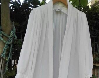 Vestaglia SALE shabby chic vintage bianca wedding sposa woman chic Dressing gown bianca plissettato chic Parigi luna di miele