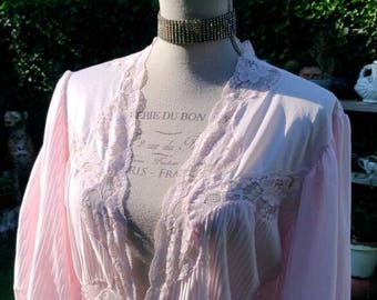 Vestaglia rosa shabby chic vintage romantica dressing gown night sposa wedding bride pink sensuale