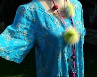 df4b2e187548 Vestito lino Positano Italia vintage anni 80 dress woman turchese chic  ricamo boho style mare cocktail party chic moda italiana di mare