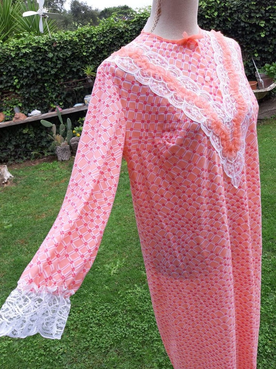50s vintage nightgown shirt psychedelic country la