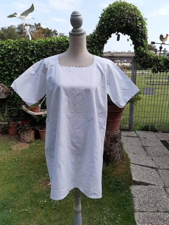 Nightgown vintage white shirts 40s boho style beac