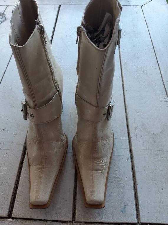Women's boots vintage style cowboy 80s fashion Ita