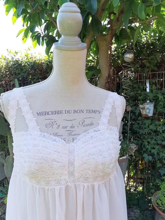 Nightgown shabby chic vintage 50s pink powder deli