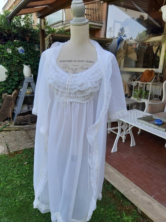 Peignoir coordinated nightgown and vintage dressin