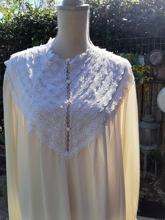 Vintage grandmother's shabby chic nightgown beige