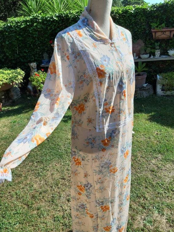 Vintage nightgown flowers bride romantic woman wom