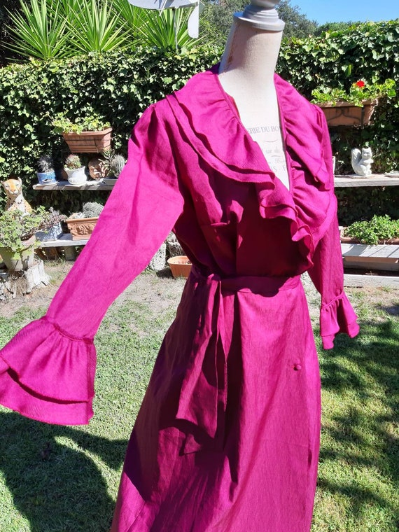 Dress dressing gown vintage diva Hollywood 70s edg