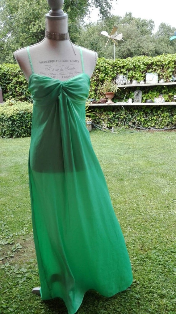 Vintage green chic green green nightgown green gre