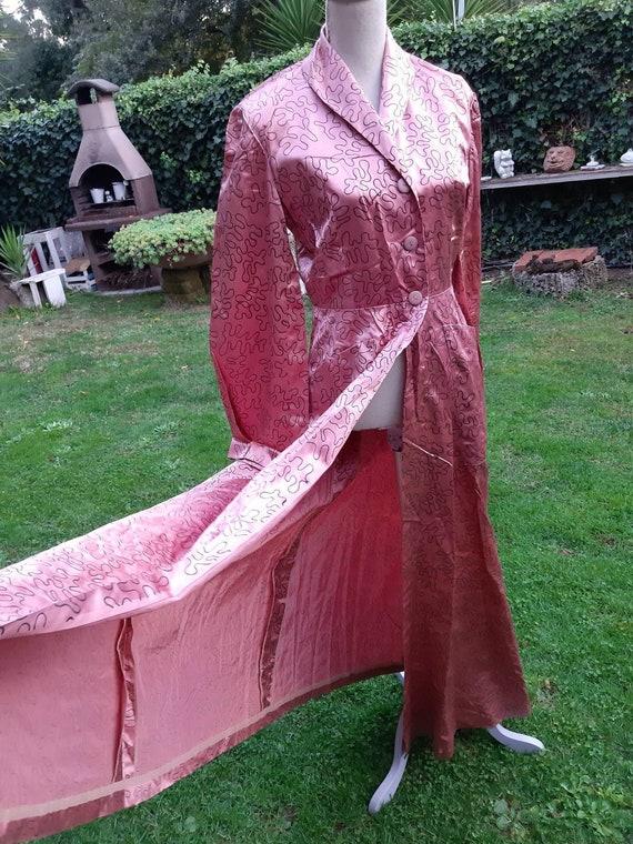 30s dressing gown vintage powder pink bronze great