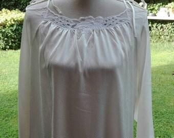 Camicia da notte saldi!shabby chic vintage bianca wedding sposa woman chic nightgown woman White luna di miele