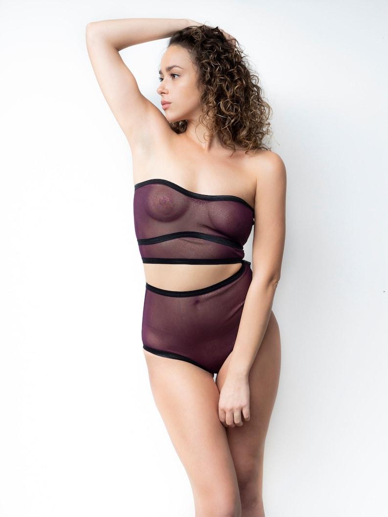 f20dc81ed Sexy Lingerie Set Sheer Bikini Erotic Lingerie High Waist