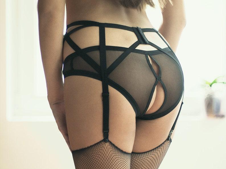 Crotchless Panties Sheer Lingerie Panties Women Panties image 0