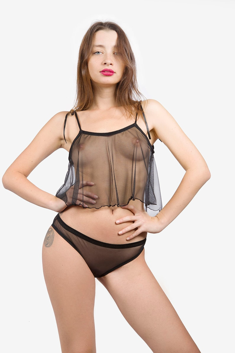 45997caffab Black Top Sheer Top See Through Top Mesh Black Top