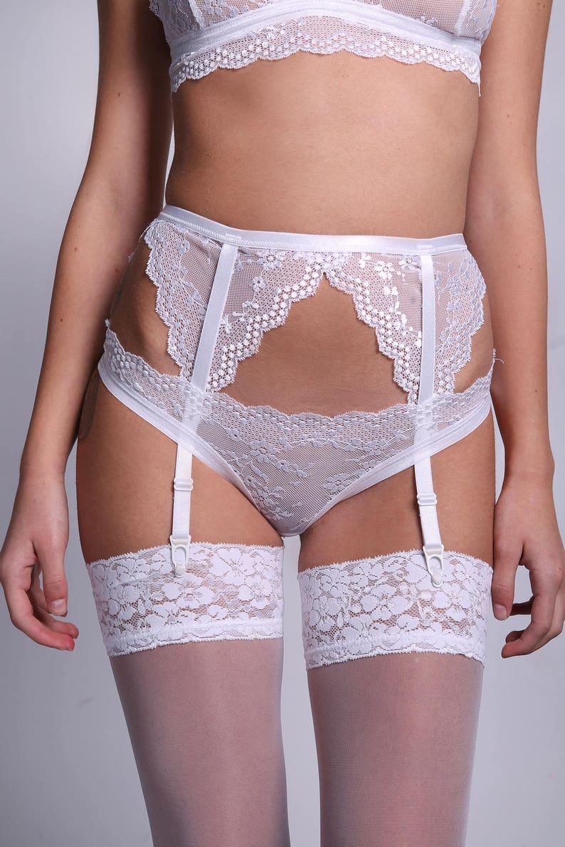 Lace Garter Belt Wedding Garter Belt White Lace Lingerie