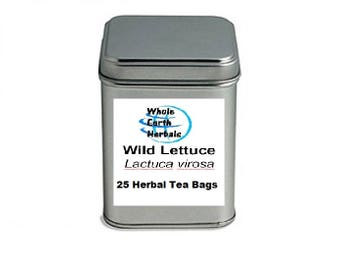 Wild Lettuce 25 Tea Bags   in Decorative Tea Tin