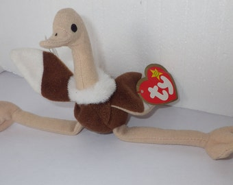 Stretchy the Ostrich - Vintage Teenie Beanie Babies McDonald Collectible Toy  1993 collection 418dd2fc64e7